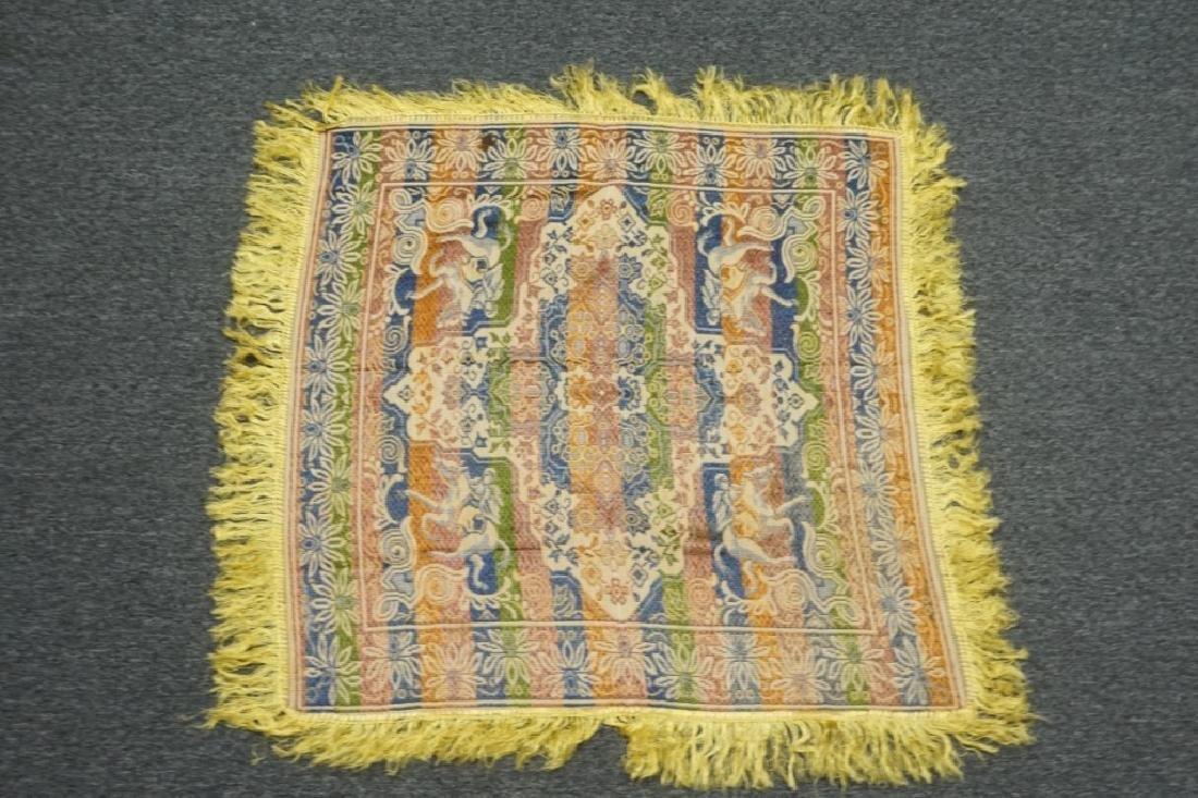 (2) EMBRORDERED SHAWLS WITH SILK FRINGE - 10