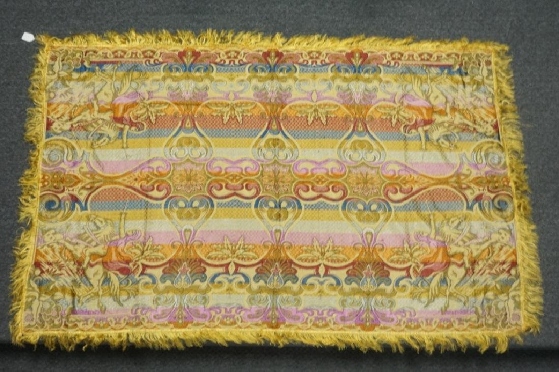 (2) EMBRORDERED SHAWLS WITH SILK FRINGE - 3