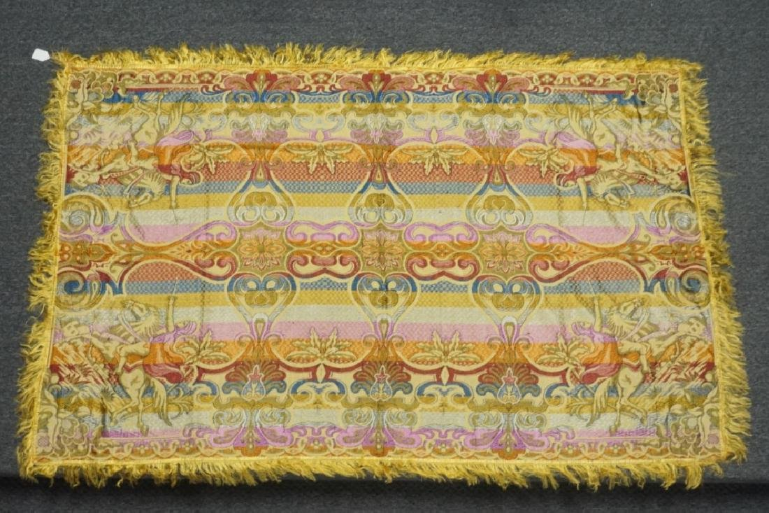 (2) EMBRORDERED SHAWLS WITH SILK FRINGE - 4