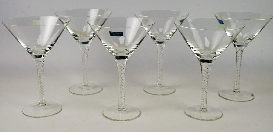 (6) MARQUIS BY WATERFORD MARTINI GLASSES