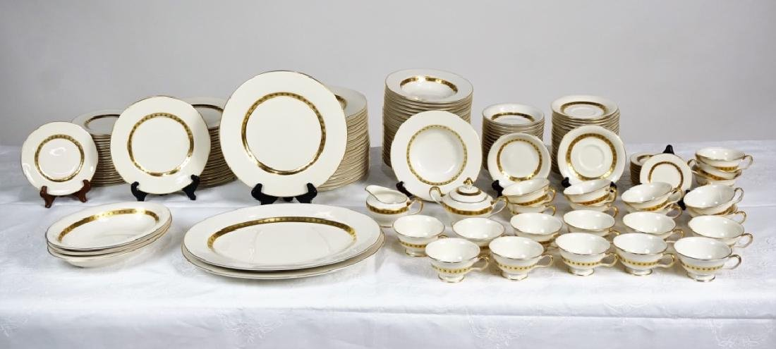 """153pc CASTLETON CHINA """"GOLDEN CLASSIC"""" SVC FOR 18 - 2"""