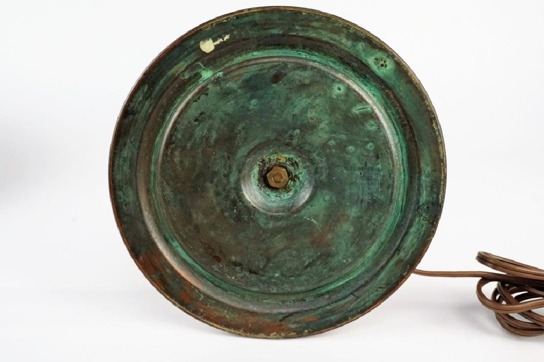 TIFFANY STYLE LEADED GLASS LAMP - 3