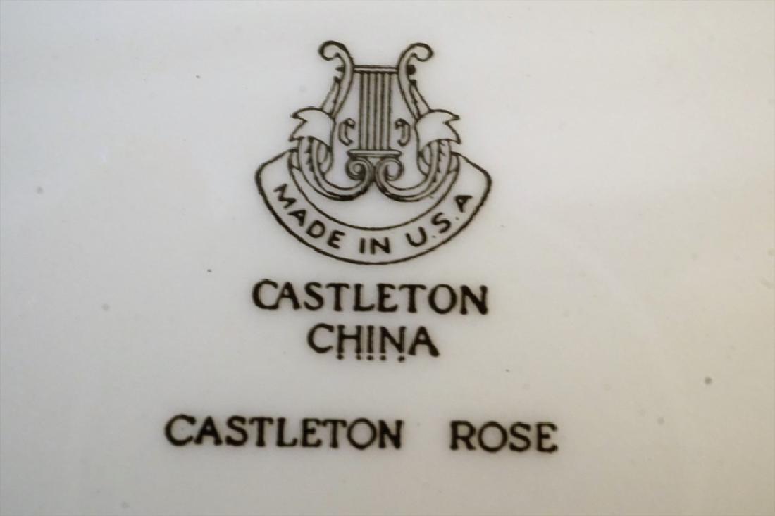 """4pcs CASTLETON CHINA """"CASTLETON ROSE"""" CHINA - 2"""
