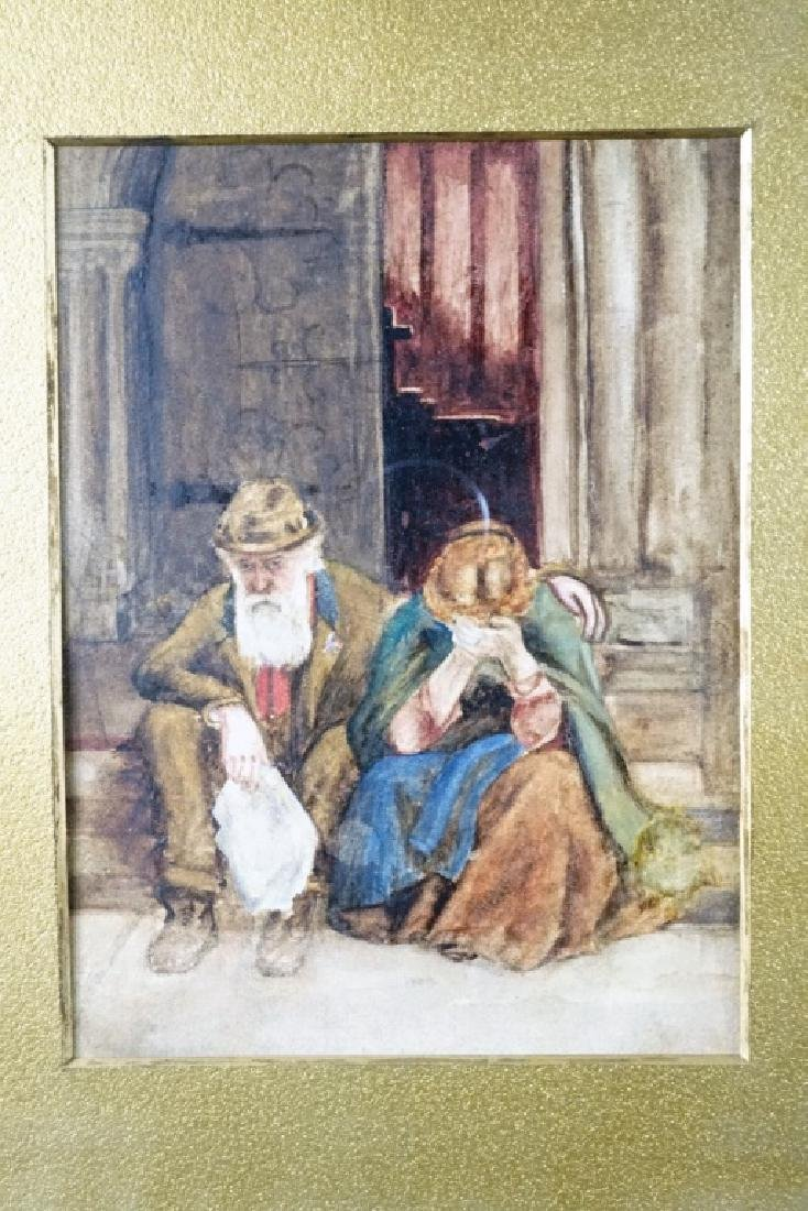 EARLY 20th CENTURY RELIGIOUS WATERCOLOR - 3