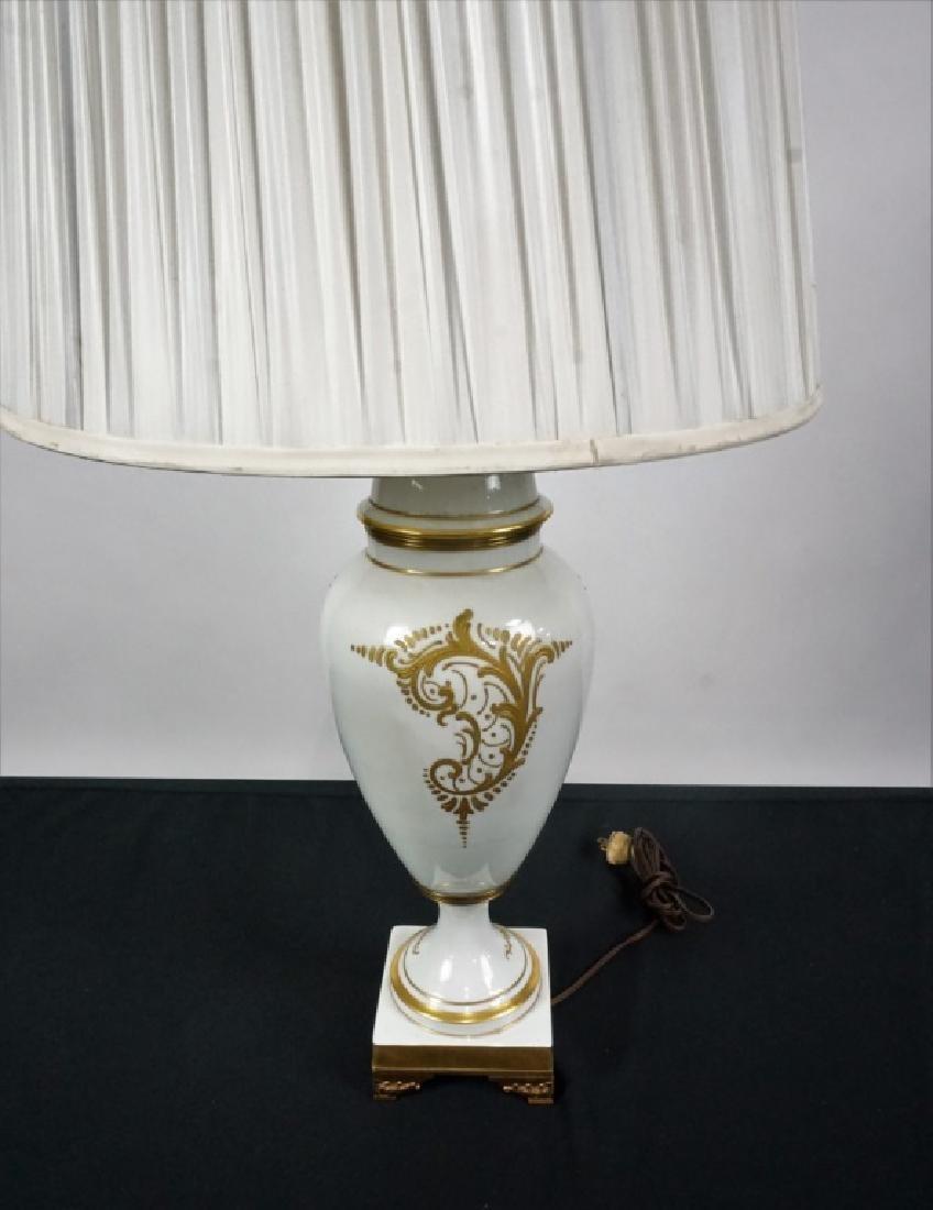 LIMOGES HAND PAINTED PORCELAIN VASE LAMP - 5