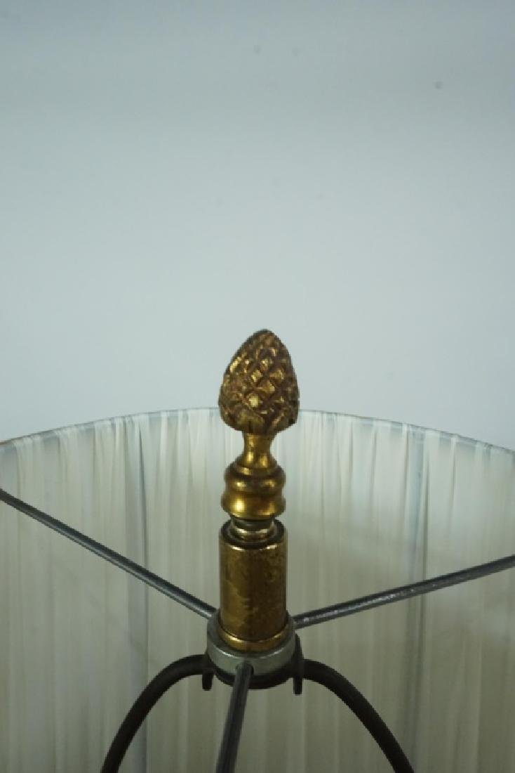 LIMOGES HAND PAINTED PORCELAIN VASE LAMP - 6