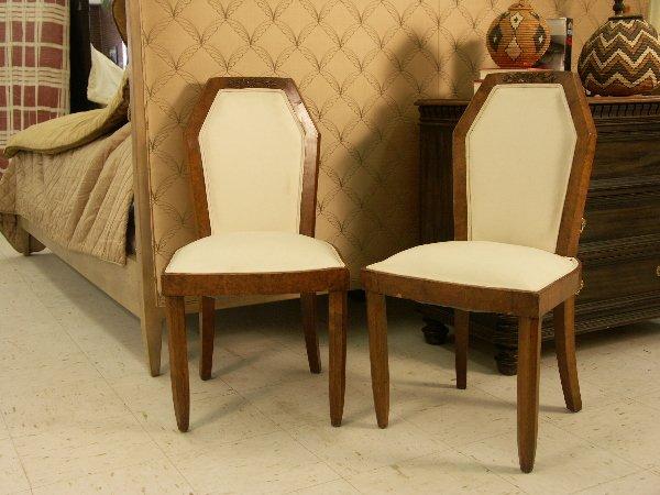 20: Pair of French Slipper Chairs Biedermeier