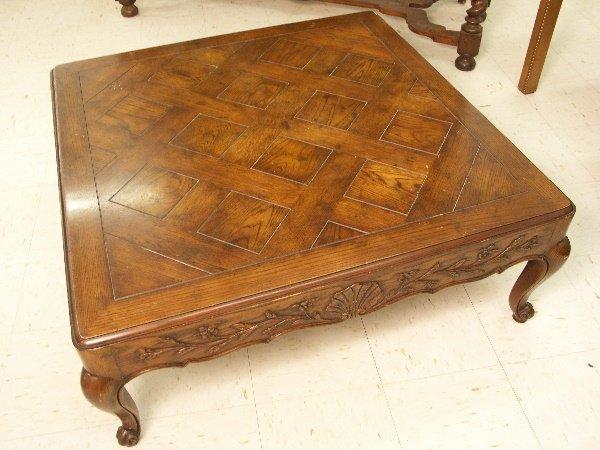 25: Vintage Drexel Square Oak Cocktail Table