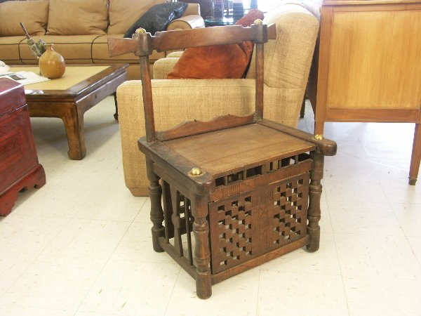 34: Native Handcrafted African Chair