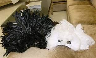 Two Black & White Mardi Gras Masks-New Orleans, LA