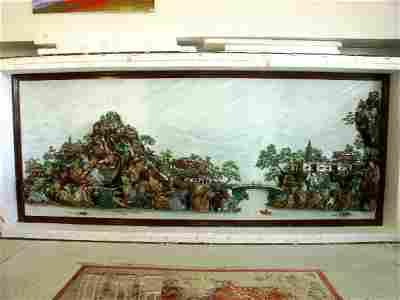 41: Chinese Gemstone Landscape Fountain 12'x4.5'