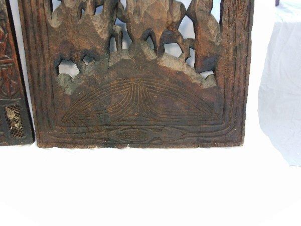 42: 2-Bamoun Carved Wood Doors Cameroon Africa