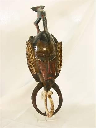 Vintage African Polychrome Ceremonial Mask-Ivory Co