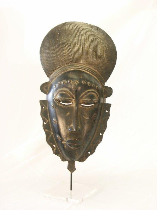 47: Vintage African Ceremonial Mask & Mount-Ivory Coast
