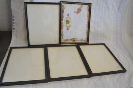 5 Black Wooden Picture Frames 8x11