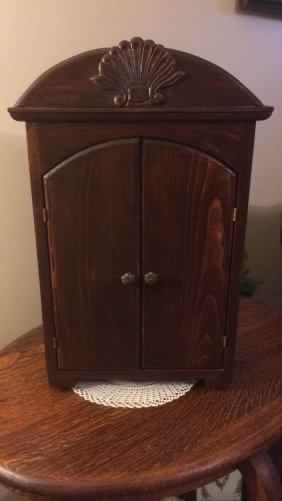 Vintage Hand Crafted Doll Wardrobe with Drawer