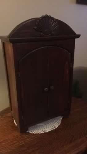Vintage Hand Crafted Doll Wardrobe with Drawer - 2