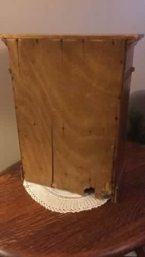 Vintage Small Wooden Cabinet with Top Drawer - 5