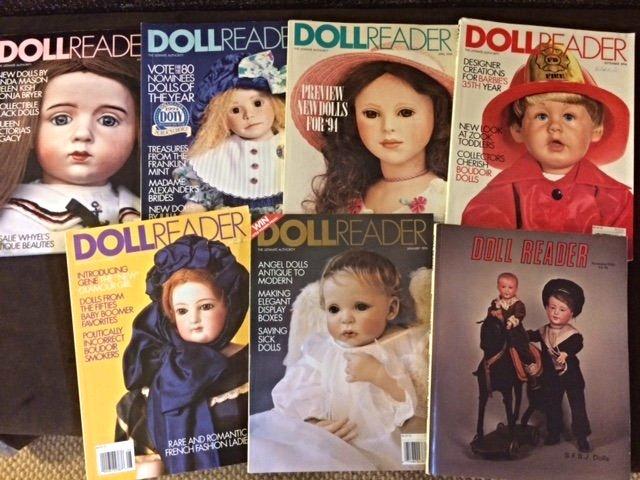LOT OF 7 DOLL READER MAGAZINES