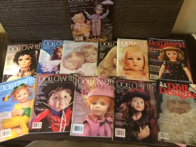 LOT OF 12 DOLL MAGAZINES