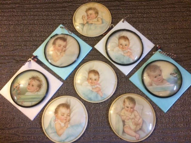 LOT OF 8 EXQUISITE BABY PRINTS ~ SIGNED ~