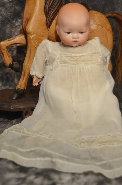 "CUDDLY 14"" ANTIQUE BISQUE HEAD ~AM~DREAM BABY~"