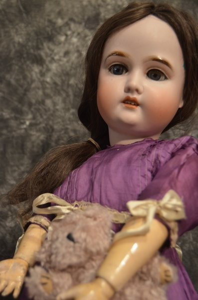 "CLASSY 25"" ANTIQUE GERMAN BISQUE HEAD DOLL"