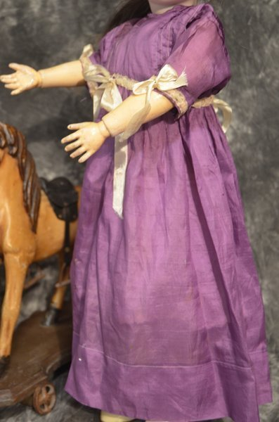 "CLASSY 25"" ANTIQUE GERMAN BISQUE HEAD DOLL - 2"