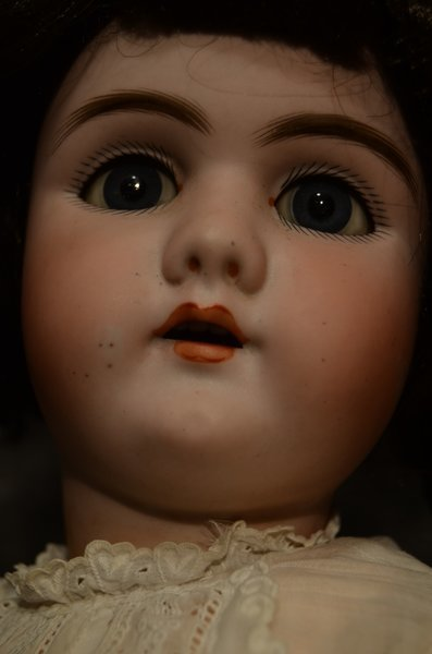 "DARLING 23"" ANTIQUE BISQUE HEAD DOLL ~ 109 ~ 12 ~ DEP - 3"