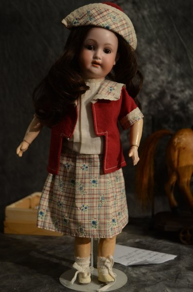 """16 1/2"""" EARLY GERMAN BISQUE DOLL ~ TREBOR ~"""