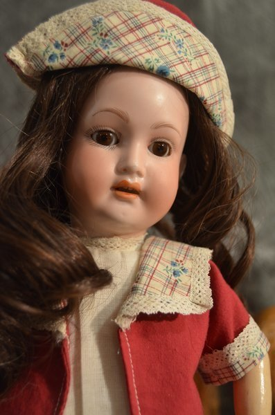 "16 1/2"" EARLY GERMAN BISQUE DOLL ~ TREBOR ~ - 2"
