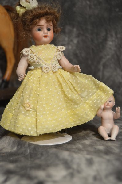 DELIGHTFUL ALL BISQUE ANTIQUE DOLL