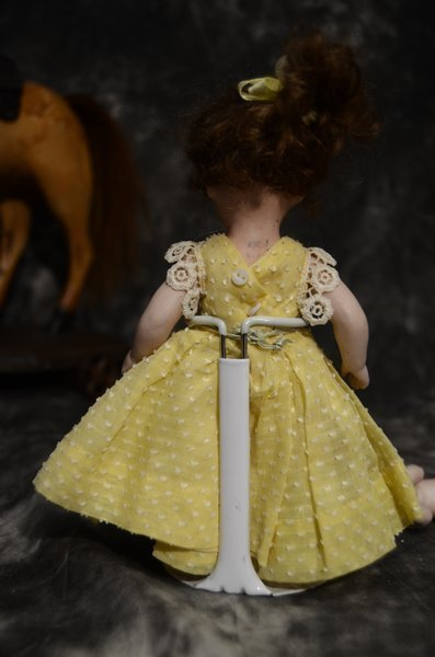 DELIGHTFUL ALL BISQUE ANTIQUE DOLL - 3
