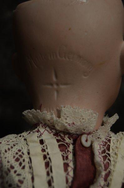 "23"" ANTIQUE BISQUE HEAD DOLL ~ CUNO & OTTO DRESSEL ~ - 5"