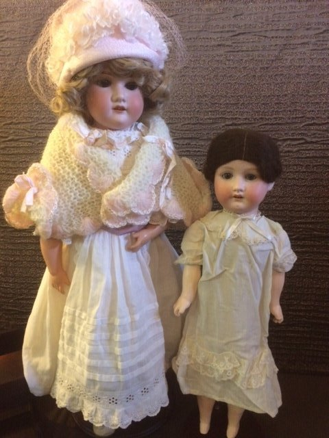LOT OF 2 ANTIQUE DOLLS