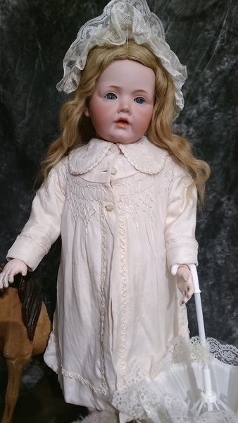 "28"" ANTIQUE BISQUE ~ RARE  STUNNING ~ HILDA BY KESTNER"