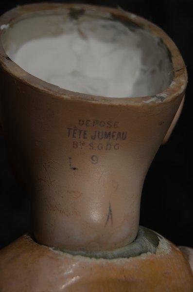 """1800'S CLOSED MOUTH JUMEAU DEPOSE, TETE JUMEAU, ~23"""" ~ - 5"""