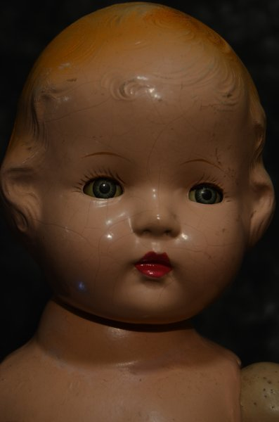 """CHARMING VINTAGE COMPOSITION DOLL  ~ 24"""" ~ - 2"""