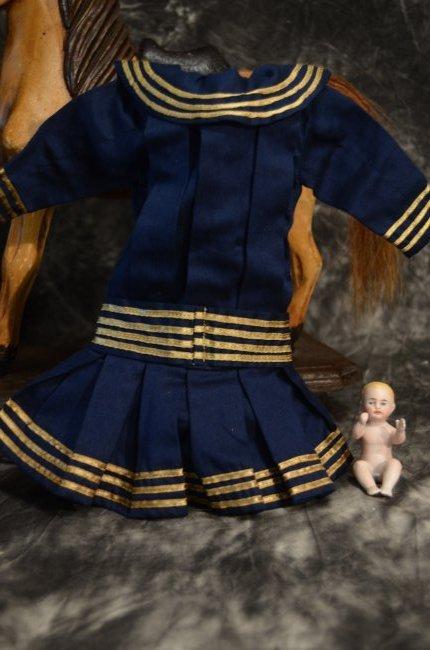 """EXQUISITE VINTAGE SAILOR DRESS ...~FITS A 16-18"""" DOLL~"""