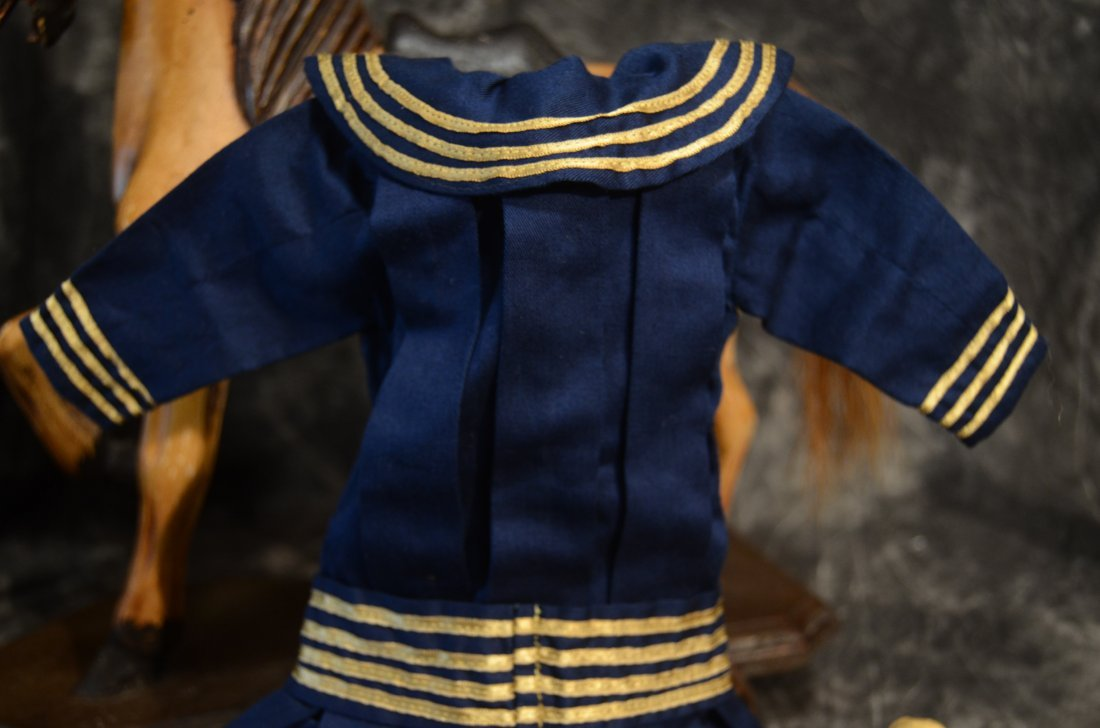 """EXQUISITE VINTAGE SAILOR DRESS ...~FITS A 16-18"""" DOLL~ - 2"""
