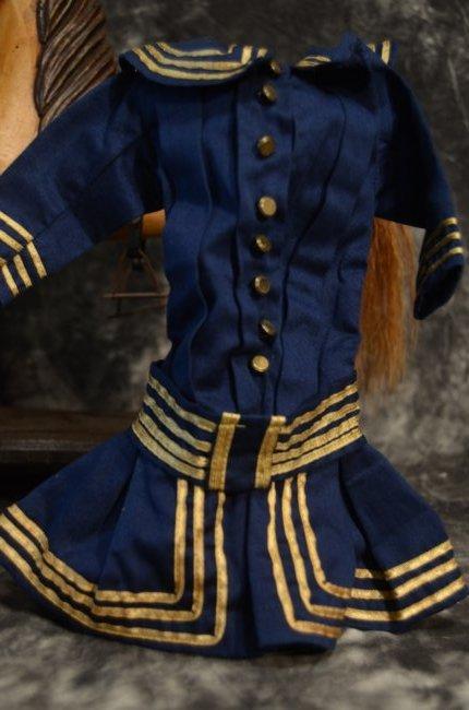 """EXQUISITE VINTAGE SAILOR DRESS ...~FITS A 16-18"""" DOLL~ - 3"""