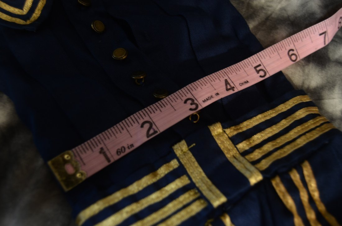 """EXQUISITE VINTAGE SAILOR DRESS ...~FITS A 16-18"""" DOLL~ - 5"""