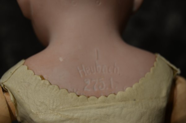 ANTIQUE BISQUE SHOULDER HEAD ~ HEUBACH ~ - 3