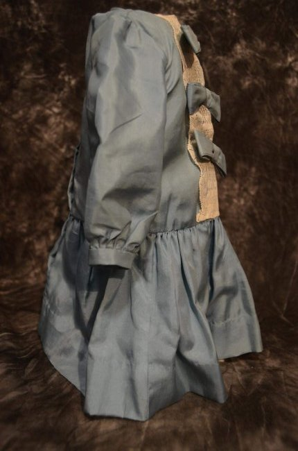 ANTIQUE STYLE SILK DRESS FOR JUMEAU BEBE