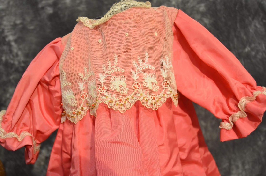 STUNNING ANTIQUE/VINTAGE SILK DRESS - 2