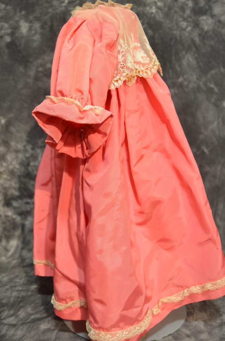 STUNNING ANTIQUE/VINTAGE SILK DRESS - 3