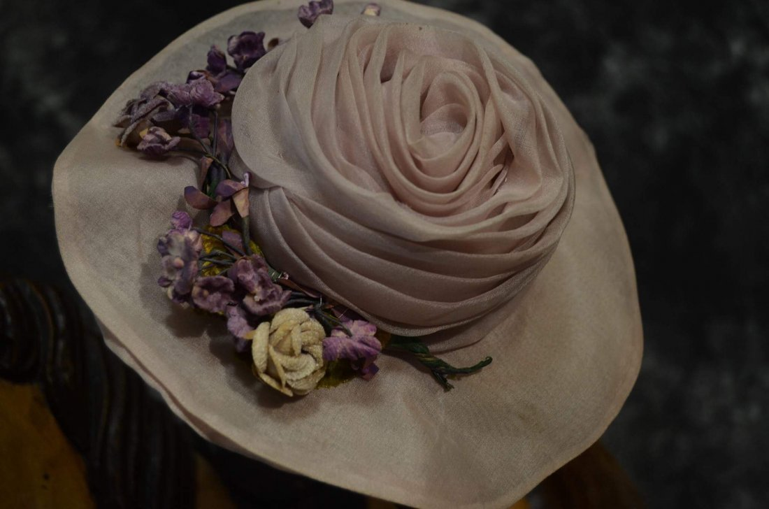 CLASSY ANTIQUE STYLE HAT FOR ANTIQUE DOLLS - 2
