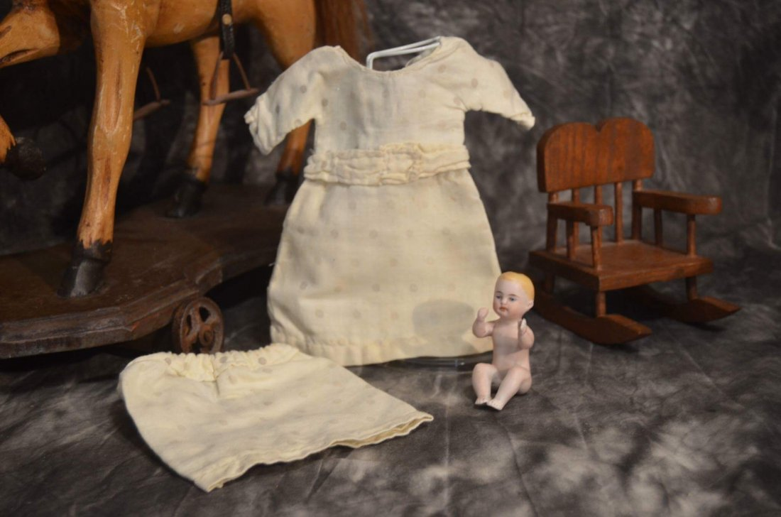 ANTIQUE DOLL DRESS FOR ANTIQUE BISQUE DOLLS ~2pc~