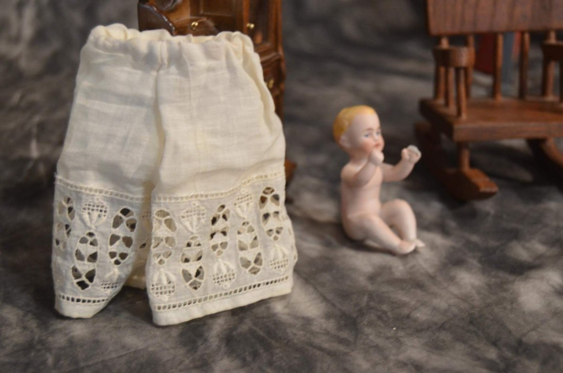 ANTIQUE PANTALOONS FOR SMALL BISQUE DOLL