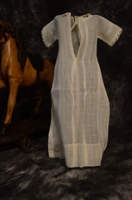 ANTIQUE/VINTAGE CHECKERED LINEN DRESS - 2